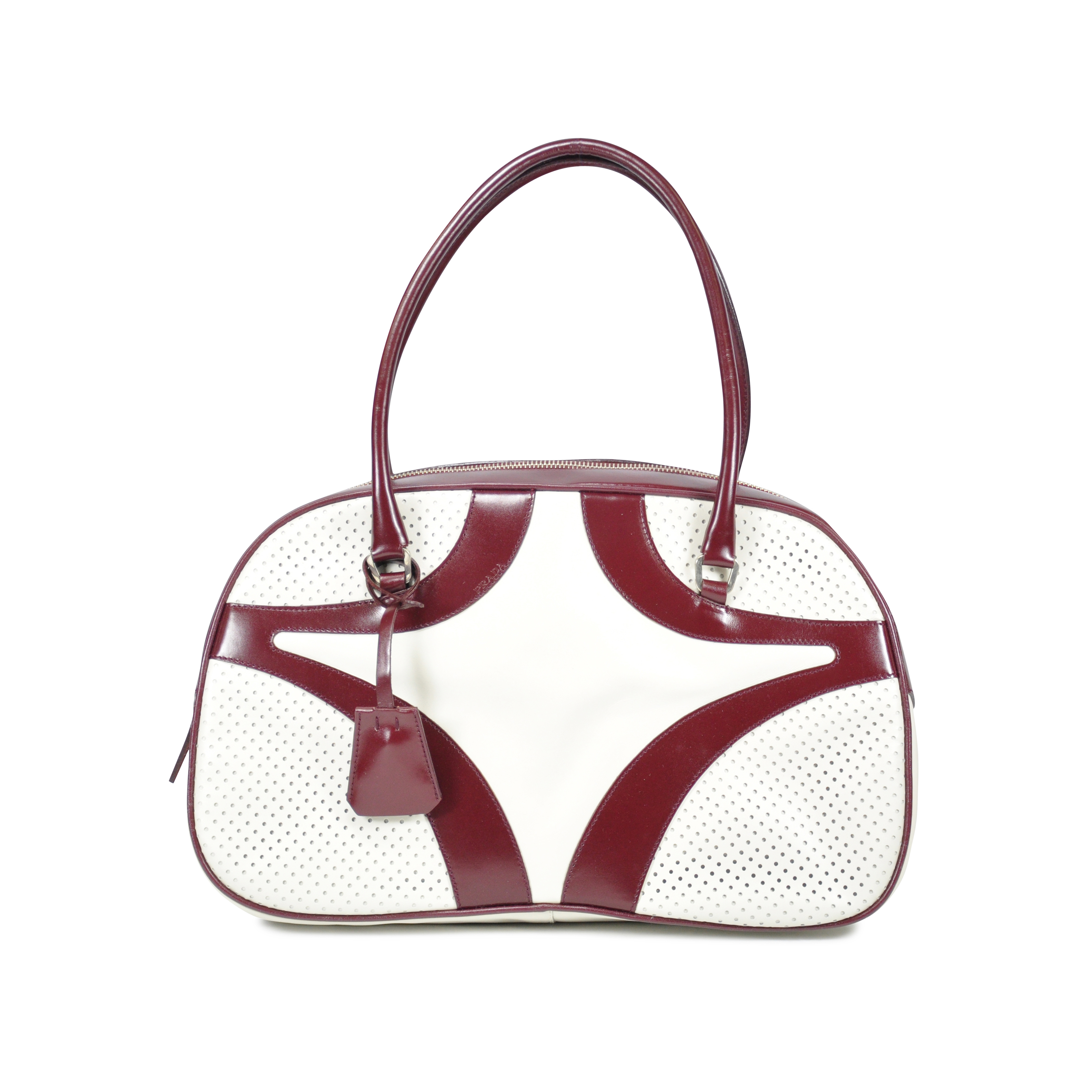 bbfe9d463786 Authentic Second Hand Prada Bowling Bag (PSS-047-00173) | THE FIFTH  COLLECTION