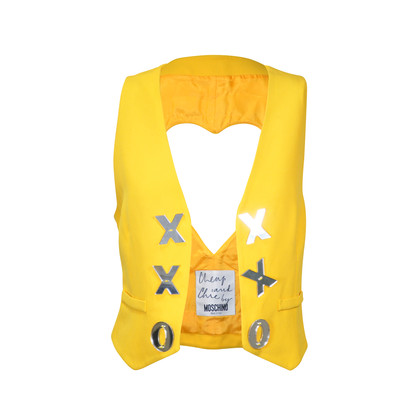 Authentic Vintage Moschino Heart Cutout Vest  (PSS-047-00080)