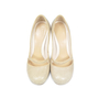 Authentic Second Hand Alexander McQueen Pumps With Crocodile Embossed Heel (PSS-047-00046) - Thumbnail 0