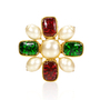 Authentic Vintage Chanel Gripoix Maltese Cross Brooch (TFC-106-00001) - Thumbnail 0
