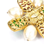 Authentic Vintage Chanel Gripoix Maltese Cross Brooch (TFC-106-00001) - Thumbnail 3