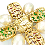 Authentic Vintage Chanel Gripoix Maltese Cross Brooch (TFC-106-00001) - Thumbnail 4