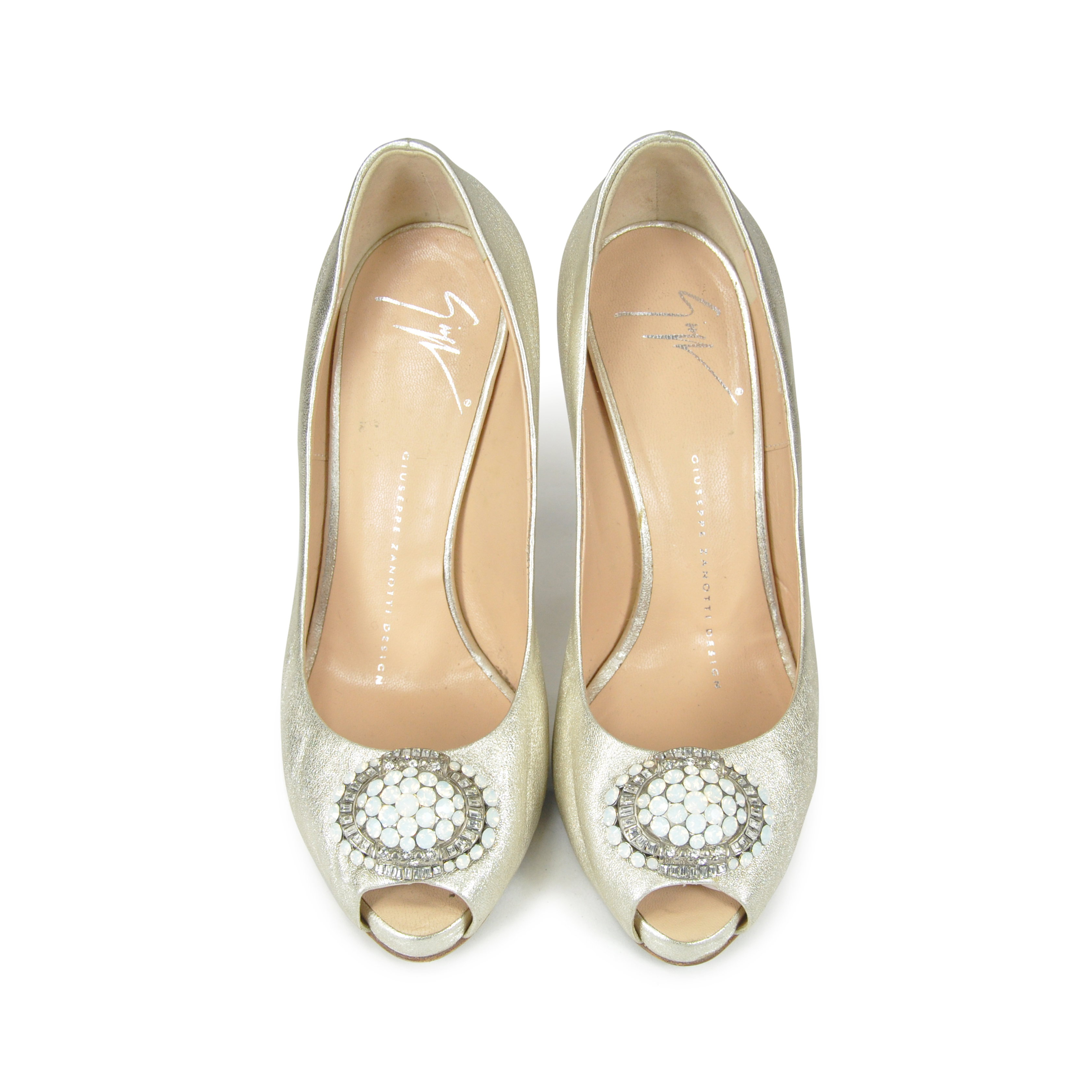 a0e0b436fb Authentic Second Hand Giuseppe Zanotti Peep Toe with Ornament  (PSS-060-00001) | THE FIFTH COLLECTION