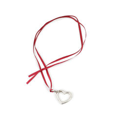 Heart Charm with Pink Ribbon