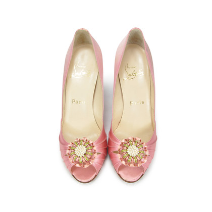Authentic Second Hand Christian Louboutin Pompadouce Peep Toes (PSS-071-00030)
