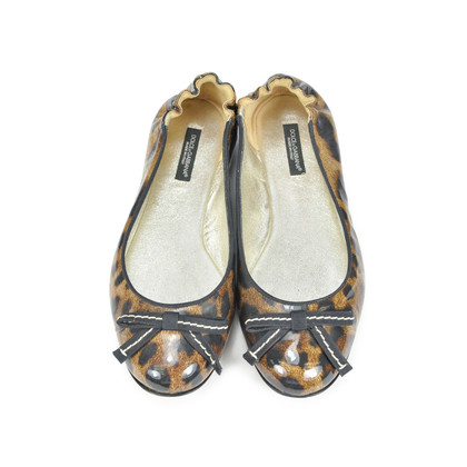 Authentic Second Hand Dolce & Gabbana Leopard Patent Flats  (PSS-071-00028)