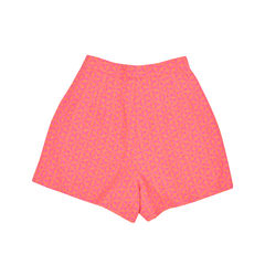 Sophie hulme orange geometric jacquard shorts 1