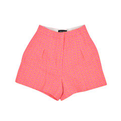 Orange Geometric Jacquard Shorts
