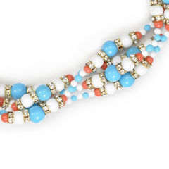 Kenneth jay lane crystal and bead necklace 2