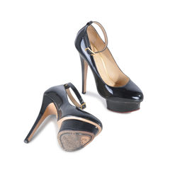 Charlotte olympia black patent heels 2