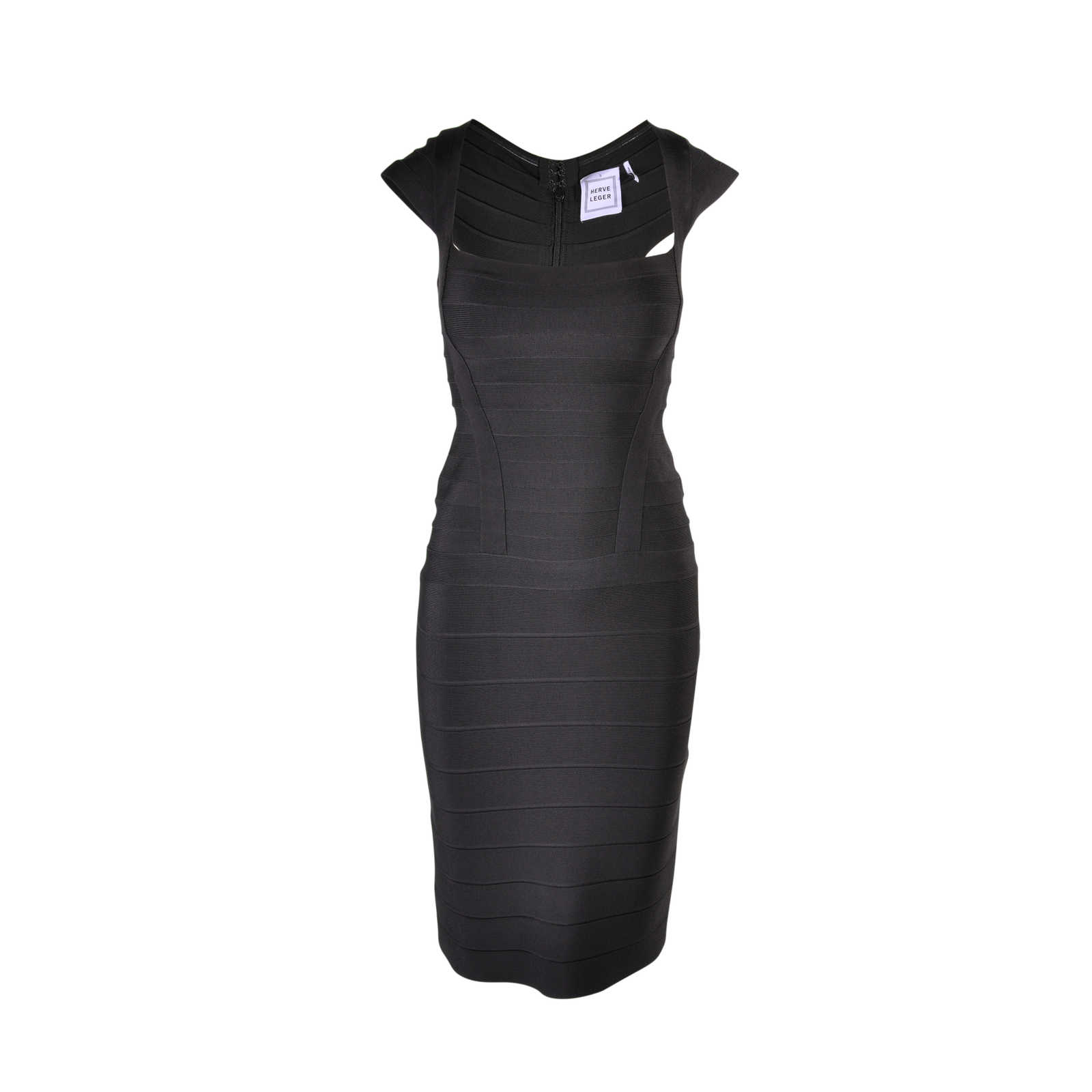 a1432d18ca8bb Authentic Second Hand Hervé Leger Black Sheath Bandage Dress  (PSS-077-00003) ...