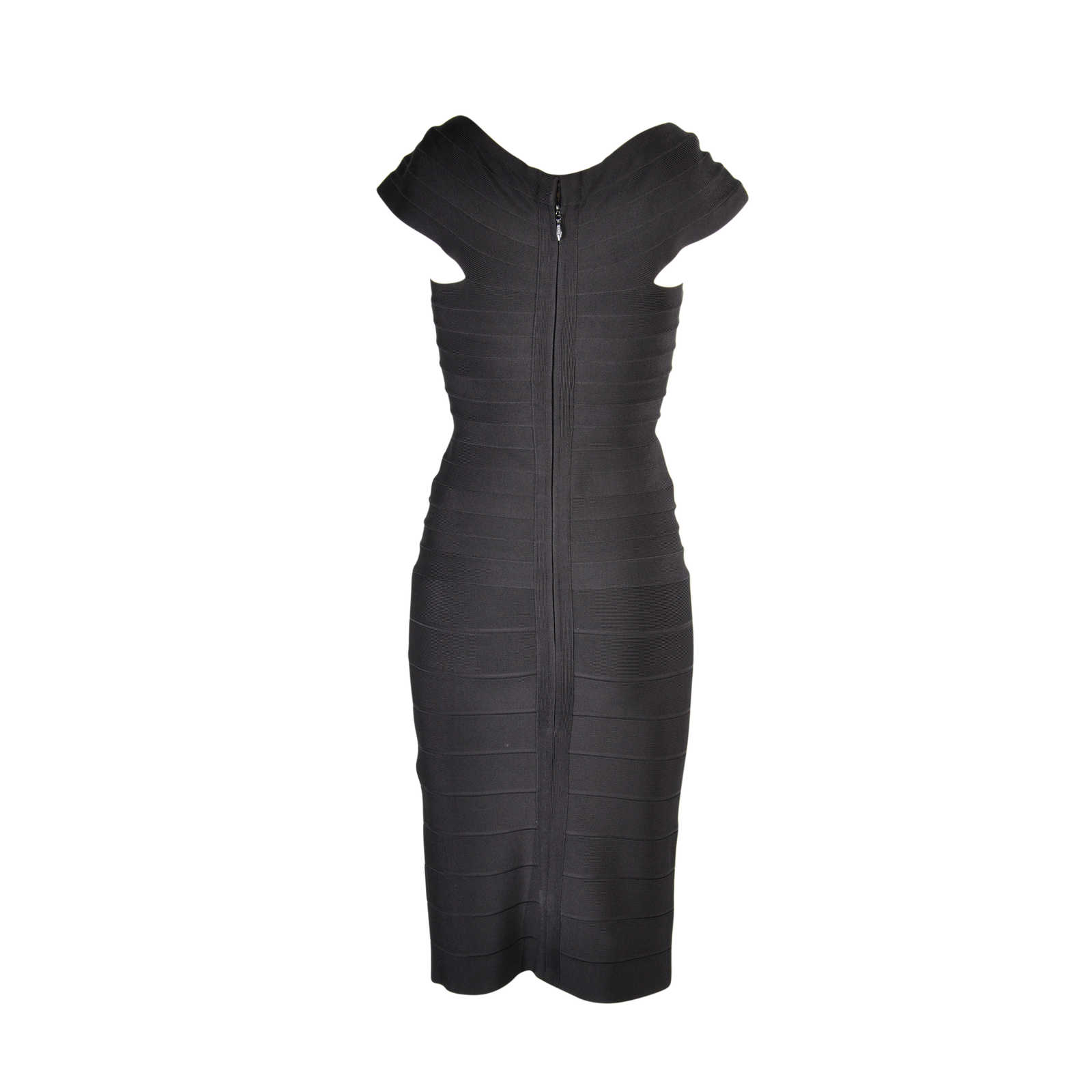 d25cc14d74116 ... Authentic Second Hand Hervé Leger Black Sheath Bandage Dress  (PSS-077-00003) ...