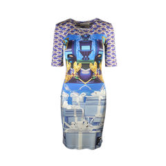 Printed Silk Jersey Dress
