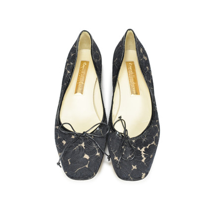 Authentic Second Hand Rupert Sanderson Embroidered Fabric Flats (PSS-085-00014)