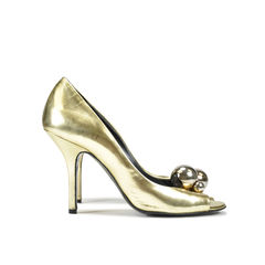 Pierre hardy golden peep toe pumps 2