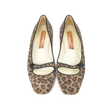 Authentic Second Hand Rupert Sanderson Leopard Print Flats (PSS-085-00017)