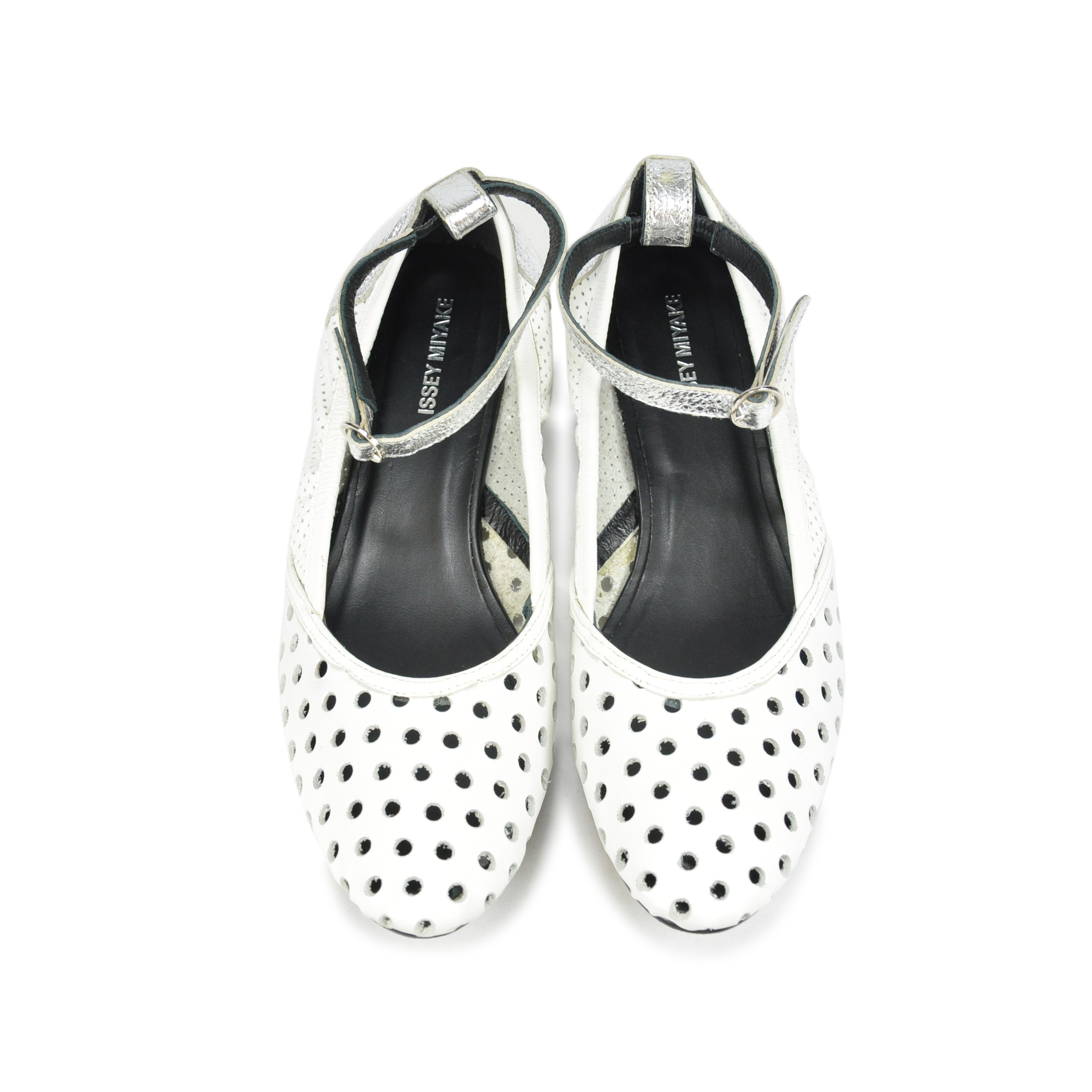 59230ffb2394 Authentic Second Hand Issey Miyake Punched Hole Foil Shoes (PSS-085-00008)