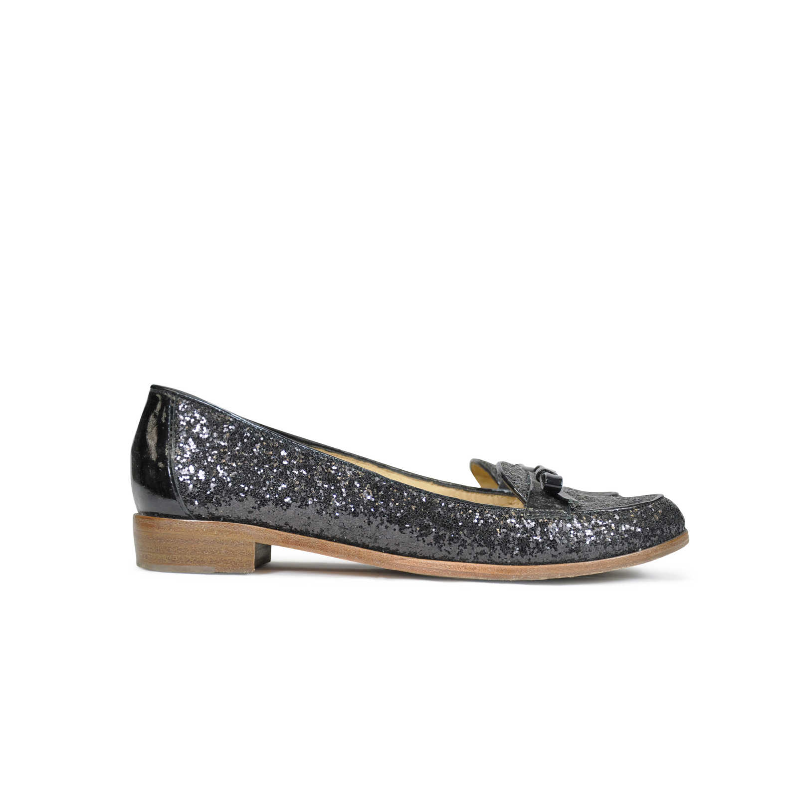12c61bb8ea7d ... Authentic Second Hand Kate Spade Cora Glitter Loafers (PSS-090-00007)  ...