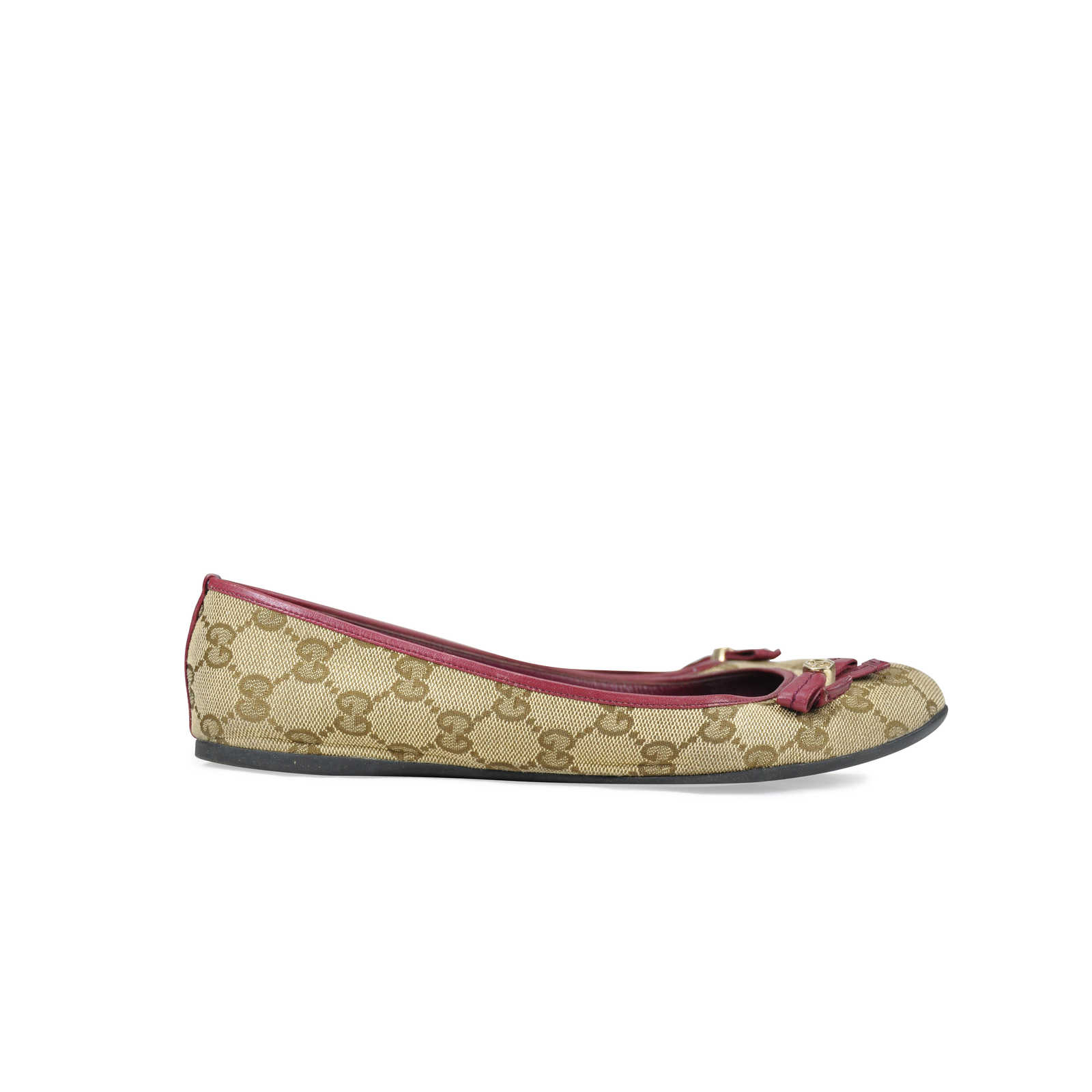1e17a47f94711 ... Authentic Second Hand Gucci Monogram Flats (PSS-090-00008) - Thumbnail  1 ...