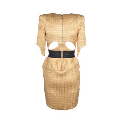 Willow gold dress with black belt 2