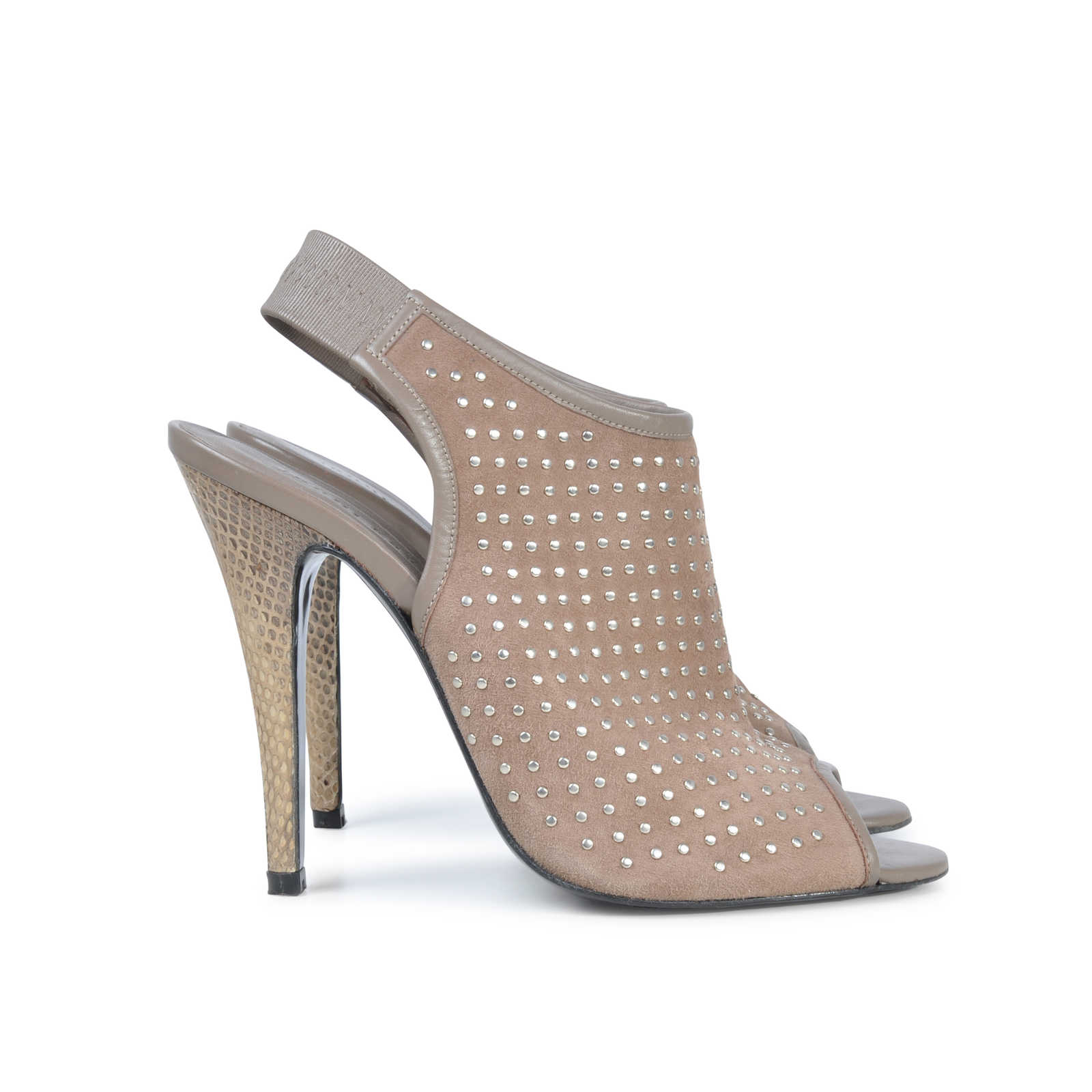 ... Authentic Pre Owned Jenni Kayne Studded Slingback Heels (PSS-074-00014) ...