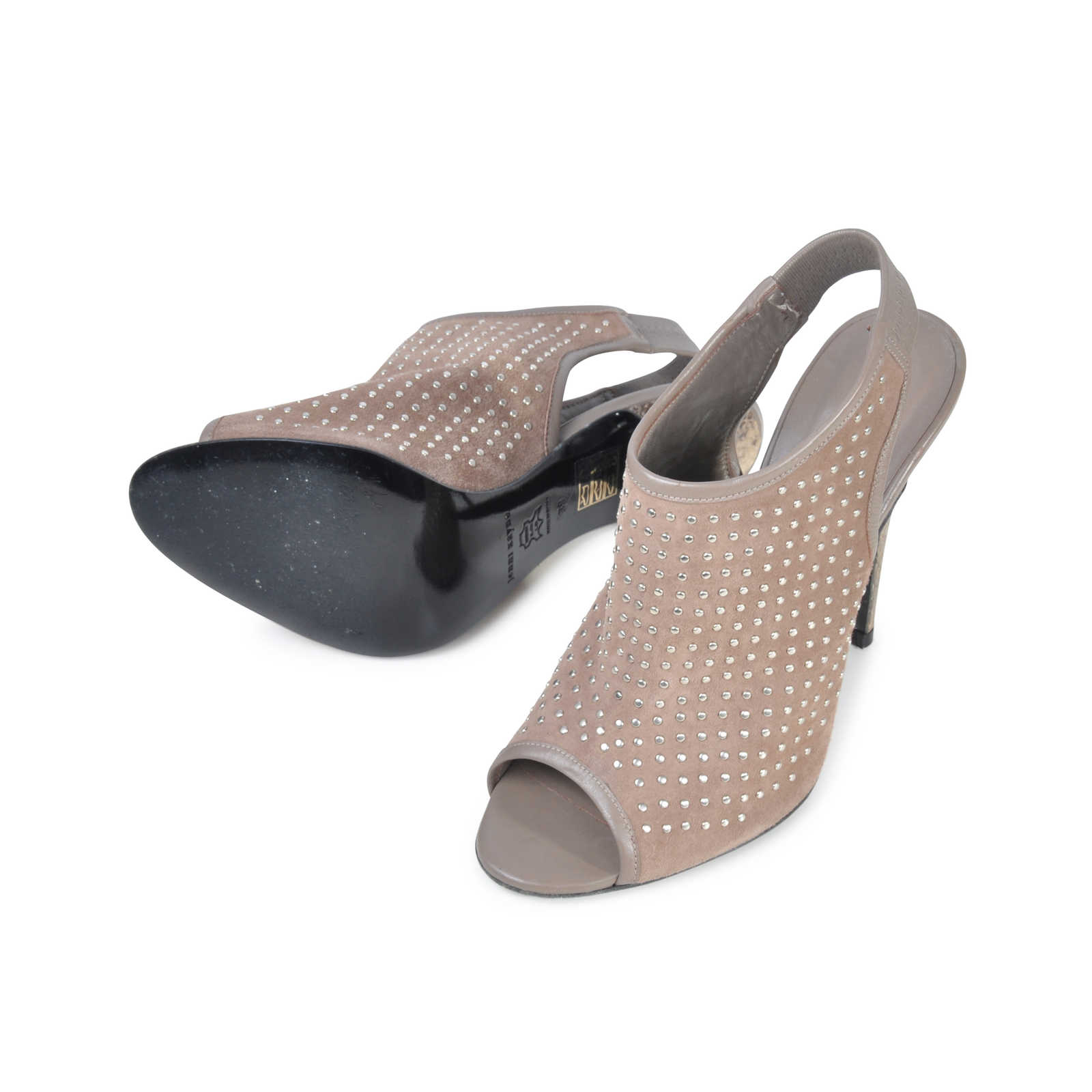 ... Authentic Pre Owned Jenni Kayne Studded Slingback Heels (PSS-074-00014) -