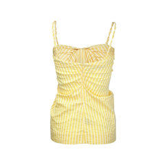 All dressed up yellow tie knot top 2