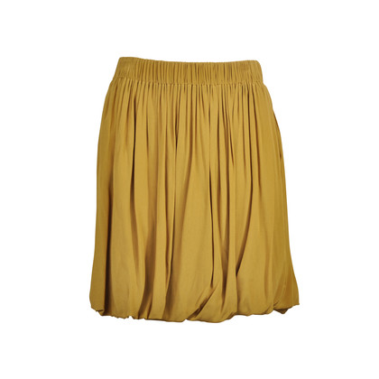 Authentic Second Hand Chloé Mustard Flare Skirt (PSS-073-00007)