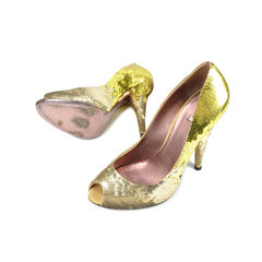 Miu miu sequinned peep toe pumps 2