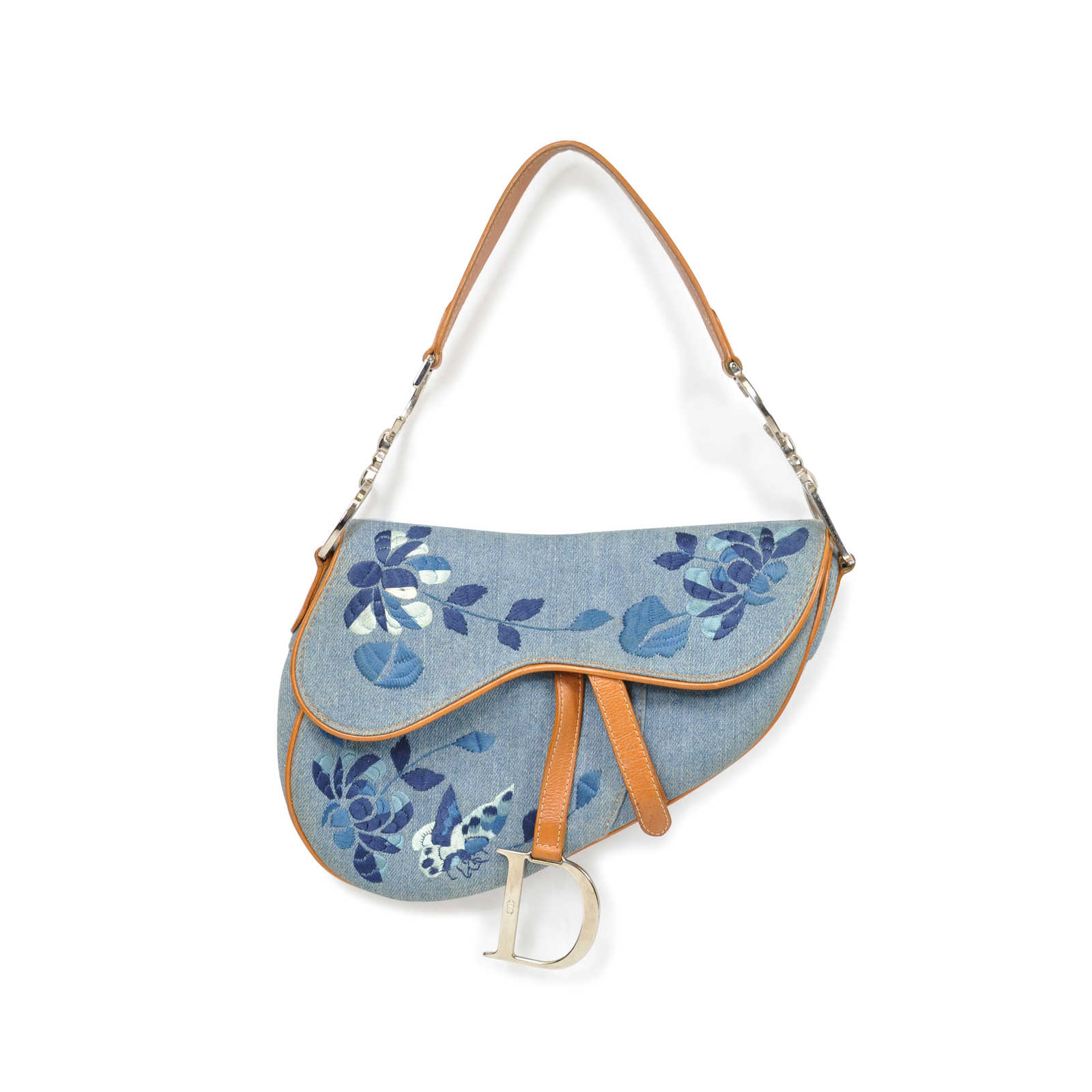 594cd339c9b Authentic Pre Owned Christian Dior Embroidered Saddle Bag (PSS-094-00010)  ...