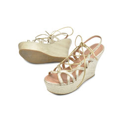 Azzedine alaia lace up wedges 2