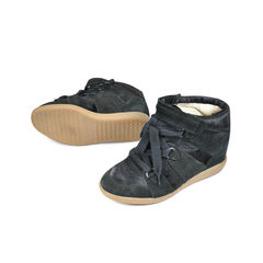 Isabel marant pony hair wedges 2