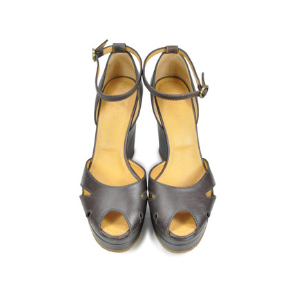 Authentic Second Hand Hogan Peep Toe Wedges (PSS-073-00022)
