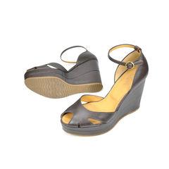 Hogan peep toe wedges 2