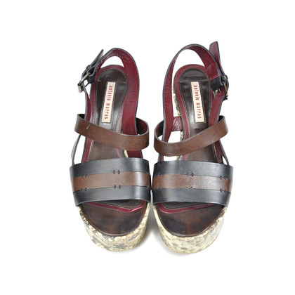 Authentic Second Hand Antonio Marras Snakeskin Print Wedges (PSS-073-00029)