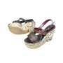 Authentic Second Hand Antonio Marras Snakeskin Print Wedges (PSS-073-00029) - Thumbnail 1