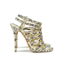 Authentic Second Hand Jimmy Choo Glenys Snakeskin Sandals (PSS-097-00002) - Thumbnail 1