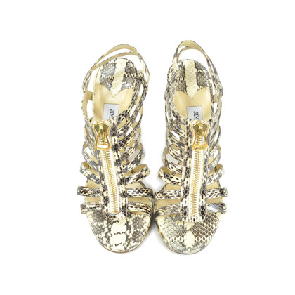 Authentic Second Hand Jimmy Choo Glenys Snakeskin Sandals (PSS-097-00002)