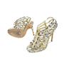 Authentic Second Hand Jimmy Choo Glenys Snakeskin Sandals (PSS-097-00002) - Thumbnail 2