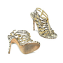 Authentic Second Hand Jimmy Choo Glenys Snakeskin Sandals (PSS-097-00002) - Thumbnail 3