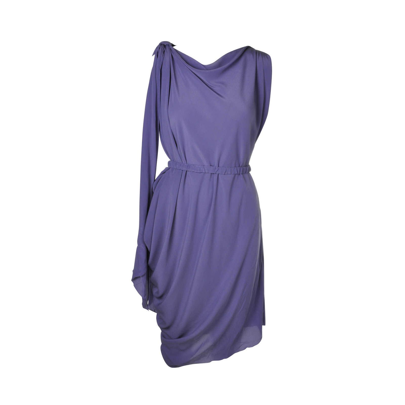 Authentic Pre Owned Lanvin Silk Asymmetrical Dress Pss 088 00008 Thumbnail