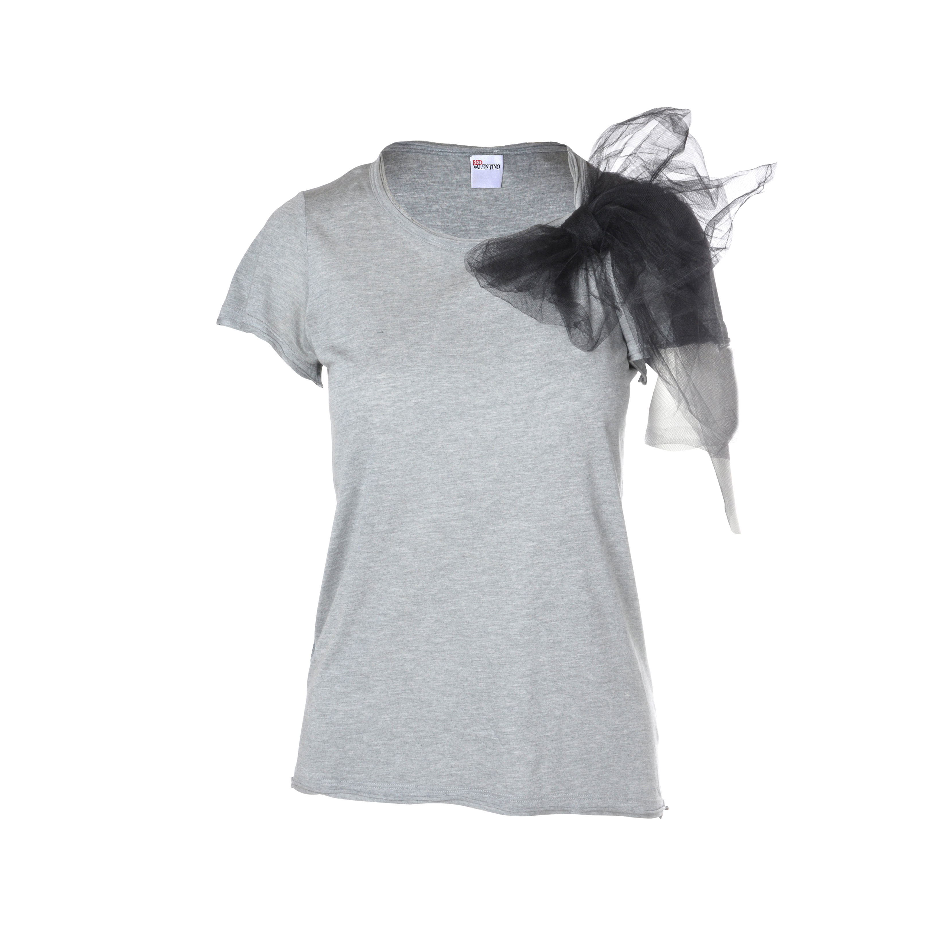 385e2bda22 Authentic Second Hand RED Valentino Tulle Bow T-shirt (PSS-088-00018 ...