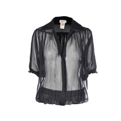 Sheer Draped Blouse