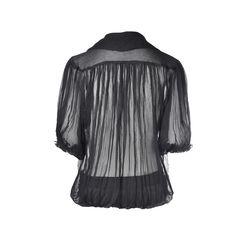 Philosophy di alberta ferretti sheer draped blouse 2