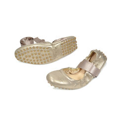 Tod s gold ballet loafers 2
