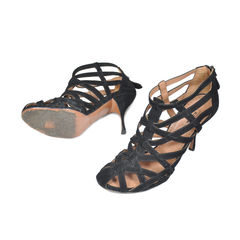 Azzedine alaia black suede criss cross heels 2