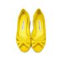 Authentic Second Hand Manolo Blahnik Suede Peep Toe Pumps (PSS-054-00070) - Thumbnail 0