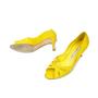 Authentic Second Hand Manolo Blahnik Suede Peep Toe Pumps (PSS-054-00070) - Thumbnail 1