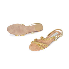 Stella mccartney braided gold sandals 3
