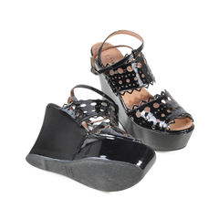 Alaia patent cutout wedges 2